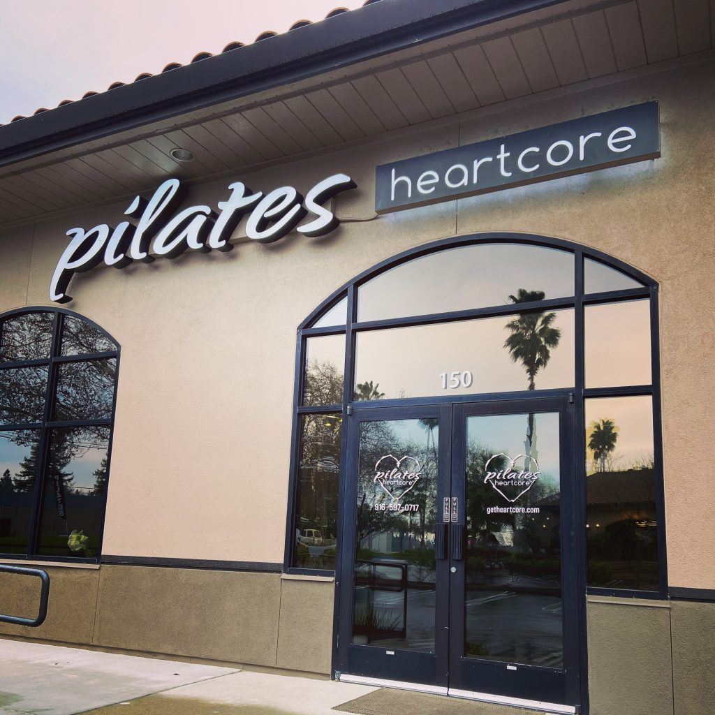 Outside view of the Pilates Heartcore studio
